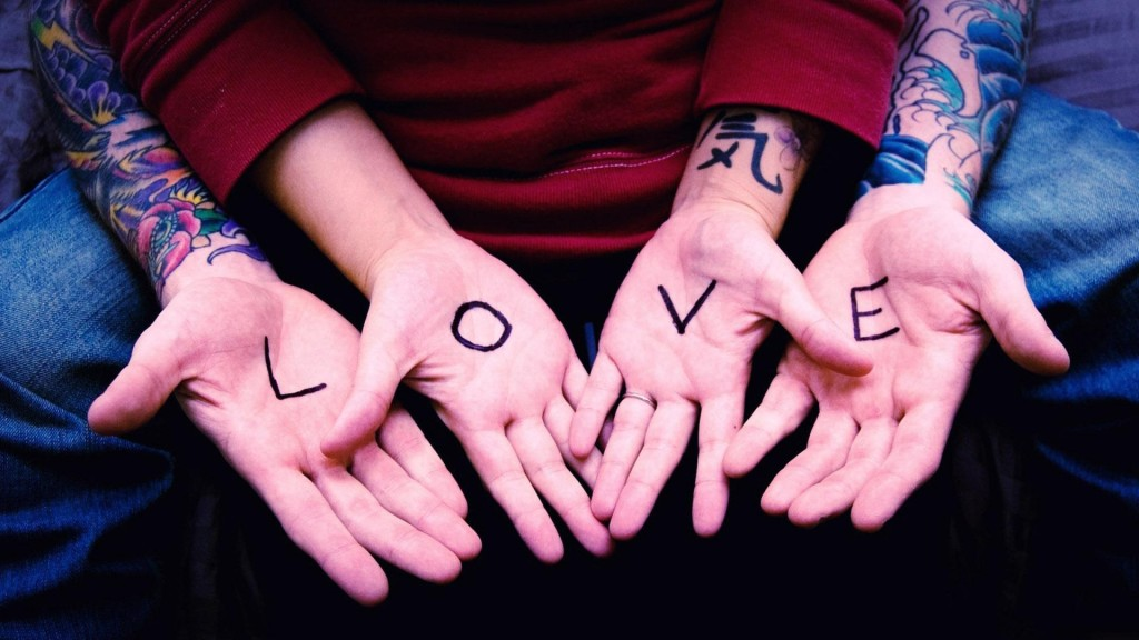 love writen in hand