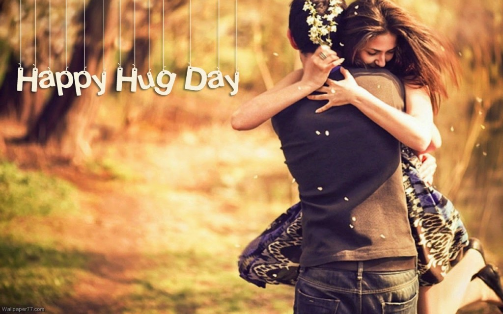 best hug day shayari hd wallpaper